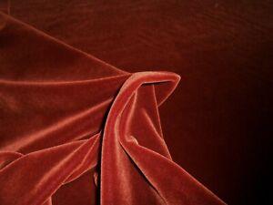 KRAVET Mohair velvet fabric DARK BROW ORANGE color 1 1/3Y new