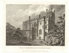 the seats of nobility & gentry 1787 -1815 engraving -  deanery in somersetshire
