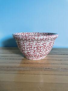 "Workshop Gerald E Henn Pottery Heavy Red Sponge Ware Mixing Bowl 8"""
