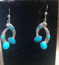 Jay King Seven Peaks 4 Stone Turquoise Drop  Earrings  NWT Ret $95