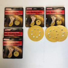 Craftsman Hook & Loop 5 Inch Sanding Discs 5 Pack Lot 60,100,150,220 Grit