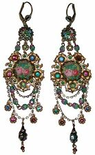 Cameo Swarovski Crystal Earrings Michal Negrin Victorian Style Roses