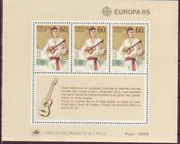 Portugal-Madeira 1985 postfrisch MiNr. Block 6 Europäisches Jahr der Musik