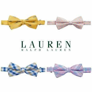 NWT RALPH LAURENBoys Pre-Tied 100% SILK Bow Tie(One Size 8-20)