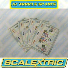 M3765 Scalextric Sticker Sheet (x4) NASCAR Thunderbolt