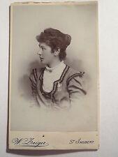 St. Ingbert - 1900 - Frau M. Seibel im Kleid - Portrait / CDV