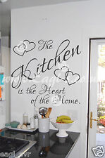 Vinyl wall art heart of the home.... Kitchen decal