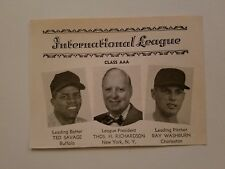 Ted Savage Buffalo Bisons Ray Washburn Charleston Marlins 1962 SNews Minor Panel