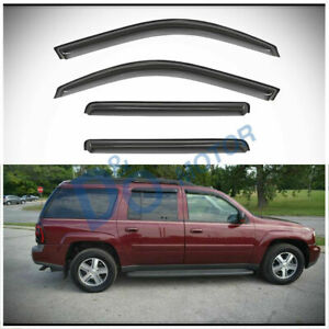 4pcs Smoke Vent Shade Window Visors Fit 02-06 Trailblazer EXT & Envoy XL/XUV