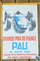 AFFICHE GRAND PRIX AUTOMOBILE DE PAU 1965 par BELIGOND Affiche originale