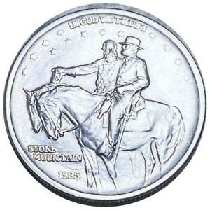 1925 Stone Mountain Commemorative Half Dollar, Lustrous 50c Phil. Mint No Res!