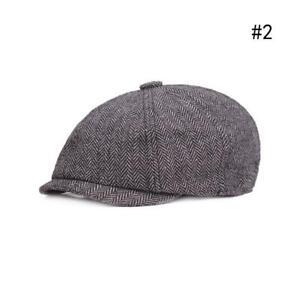 Peaky Blinders Newsboy Herringbone Hat Gatsby Cap Flat 8 Panel Baker Boy AU