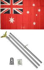 3x5 Australia Australian Red Ensign Flag Aluminum Pole Kit Set 3'x5'