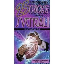 25 Amazing Magic Tricks with a Svengali Deck How To VHS Video Tape New Sealed