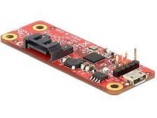 DELOCK convertidor Raspberry Pi USB micro-B B./USB pin header > SATA 7 pin 62626