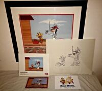 Hanna Barbera Signed Cel Quick Draw McGraw Shooting Room Only 2/20 HC + Promo