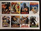 """Large Stickers 8pcs (2.5""""×3.5"""") Godzilla Mothra Rodan Movie Posters: lot.1"""