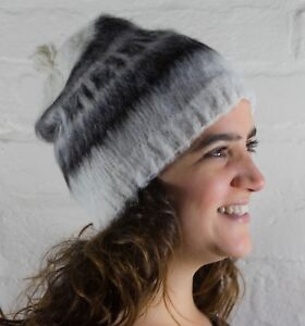 100% Alpaca Round Adult Hat - Handmade in Bolivia - Choice of Colours - Unisex