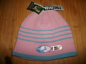 Mossy Oak Ladies Reversible Beanie Pink / Blue Hat Skull Cap NWT ~ NEW