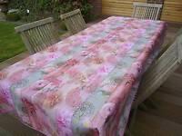 Tischdecke Provence 150x240 cm pink aus Frankreich, pflegeleicht und bügelfrei