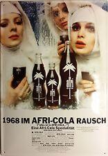 1968 im Afri Cola Rausch Blechschild 35x50cm Werbung Reklame Nonnen Palme Sign