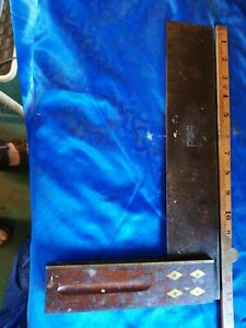 """12"""" Vintage Marples Try / Set Square vintage wooden boat building tool"""