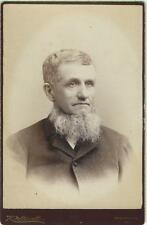 MAN WITH A TWINKLE IN HIS EYES AND AN UNDERBEARD IN WASHINGTON, PA -CABINET CARD