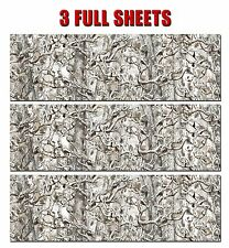 3 GLOSS CAMO DECAL MADE FROM 3M WRAP VINYL TRUCK CAMO SNOW BUCK CAMOUFLAGE SKULL
