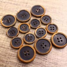 14pcs 15/20mm Double Breasted Natural Real Buffalo Horn Suit Set Button Bespoke