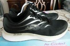 SKECHERS Women's Skyline Aglow Black/Gold Memory Foam Sneakers Shoes Size 8.5