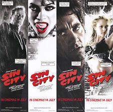 SIN CITY Bookmark Set (Bruce Willis, Clive Owen, Rosario Dawson, Jessica Alba)