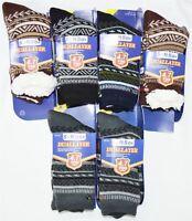 Mens Soft Fleece Dual Layer 4.7Tog Socks Fluffy Winter Warm Slipper BootsUK6-11