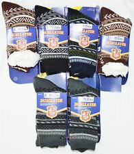 Mens Soft Fleece Dual Layer 4.7Tog Socks Fluffy Winter Warm Slipper BootsUK6-11