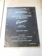 Superior Model Ma Marine Diesel Engines Install Operating Service Manual Phil Pa