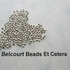 250 Round 2.4mm Silver Metal Copper Seed Beads or Spacer Beads 6 Grams