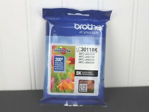 GENUINE Brother LC3011BK Standard Yield Black Ink Cartridge Exp 06/2023 NEW
