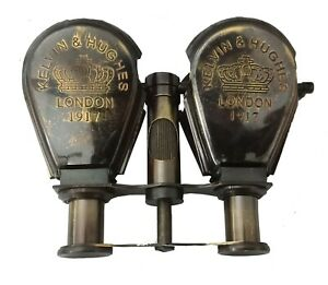 Brass Binocular double Optics Collectible London 1947 Kelvin & Hughes