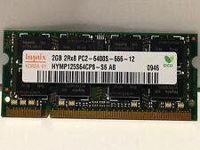 Hynix PC2-6400 2GB SO-DIMM 800MHz DDR2 SDRAM Memory HYMP125S64CP8-S6