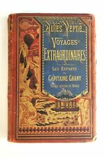 Antique French Hetzel  Jules Verne Les Enfants du Capitaine Grand Book