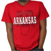 Arkansas Student University Football College Adult Short Sleeve Crewneck Tee
