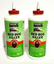 Maggie's Farm Bed Bug Killer Dust 3oz Powder Desiccant Dries Bugs Dead 2 bottles
