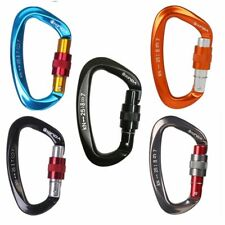 Caving Rock Climbing Carabiner Mountaineering Lock Safety Rappelling D Shaped