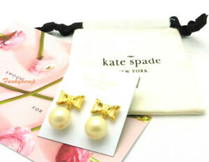 NWT Kate Spade All Wrapped Up In Pearls Cream/Gold Drop Earrings o0ru2699