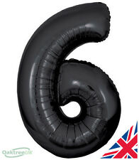 """Happy Birthday Shaped Large 30"""" foil Helium Number Balloon Party BLACK 6"""