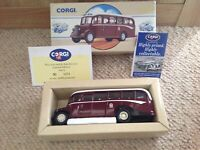 BEDFORD OB COACH EDINBURGH CORPORATION CITY TOUR BUS 1993 With Box & Certificate