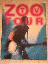 U2 Zoo Tv 1992 North American Indoor Tour Program