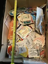 Extra Large Box Of Vintage Beer Mats Ales And Tobacco Etc