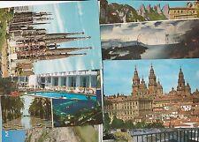 8 Postcard Menorca Alecante Mojacar Barcelona Loja Patinir Santiago Compostela