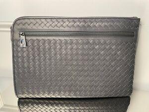 BOTTEGA VENETA Intrecciato Document case Clutch bag handbag pouch 406021