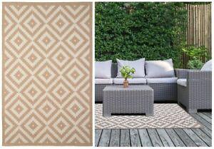 Lightweight Geo Stone Design Mat Runner Summer Garden Rug Area Outdoor/Indoor